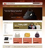 Template #25021  Keywords: handbag boutique purse bag bags shop store fancy bag leather fashion