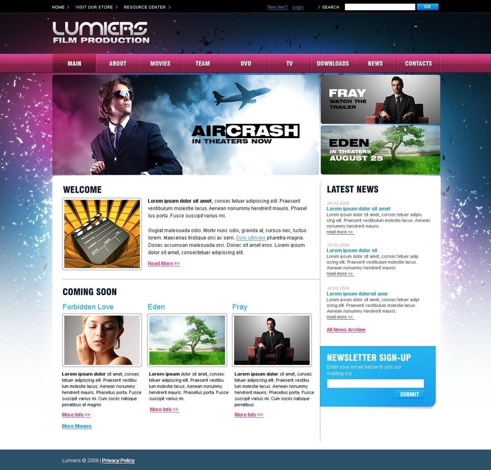 movie website template web design templates website templates