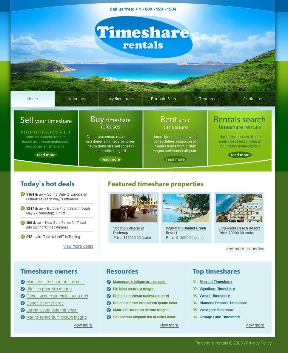 travel website template  25065