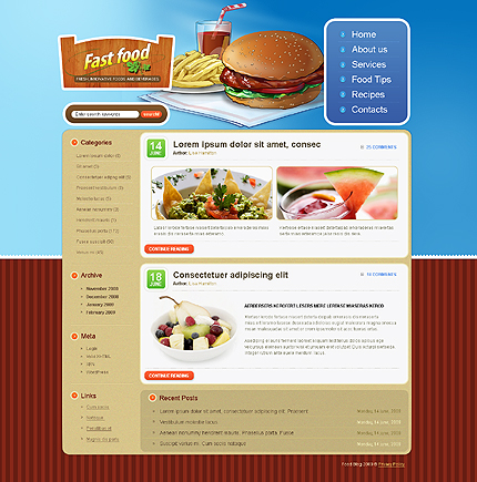 Fast Html Templates Fast Food Web Templates
