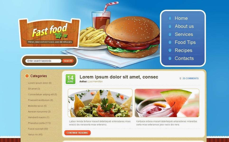 Fast Food Restaurant WordPress Theme New Screenshots BIG