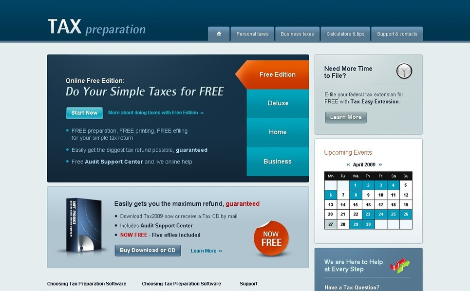 Accounting Website Website Template New Screenshots BIG