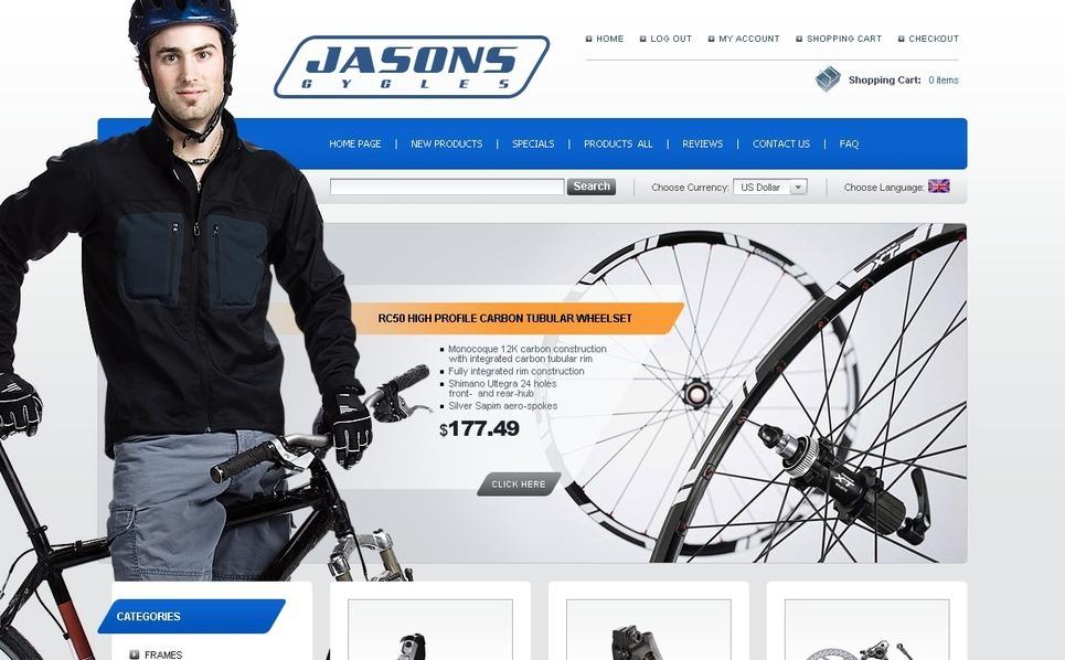 Cycling ZenCart Template New Screenshots BIG
