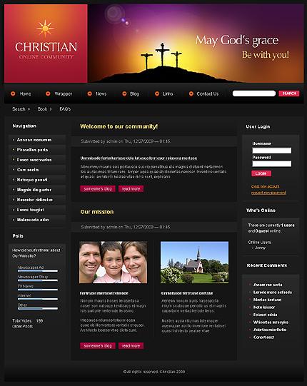 Заказ создания сайта или интернет магазина на тему Религия, на основании шаблона №25184.
