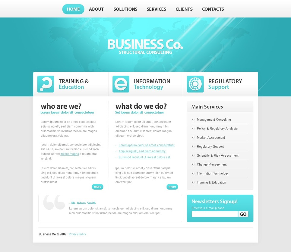 Consulting website template 25191 for Consulting website