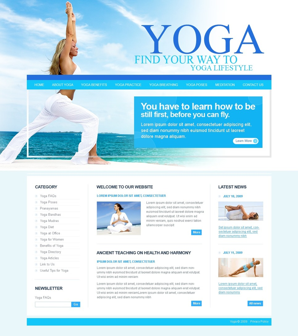 Yoga Website Template New Screenshots BIG
