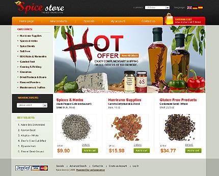 Ссылка на демо.  Food & Drink Web Templates.