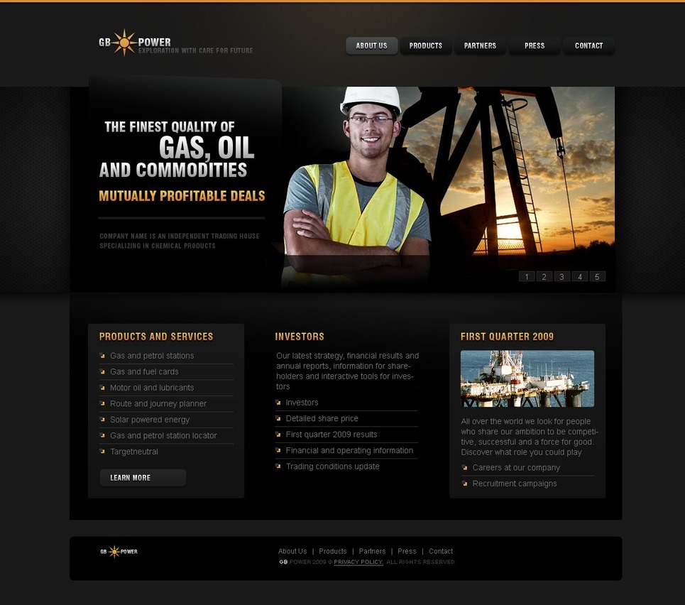 Gas & Oil Website Template New Screenshots BIG
