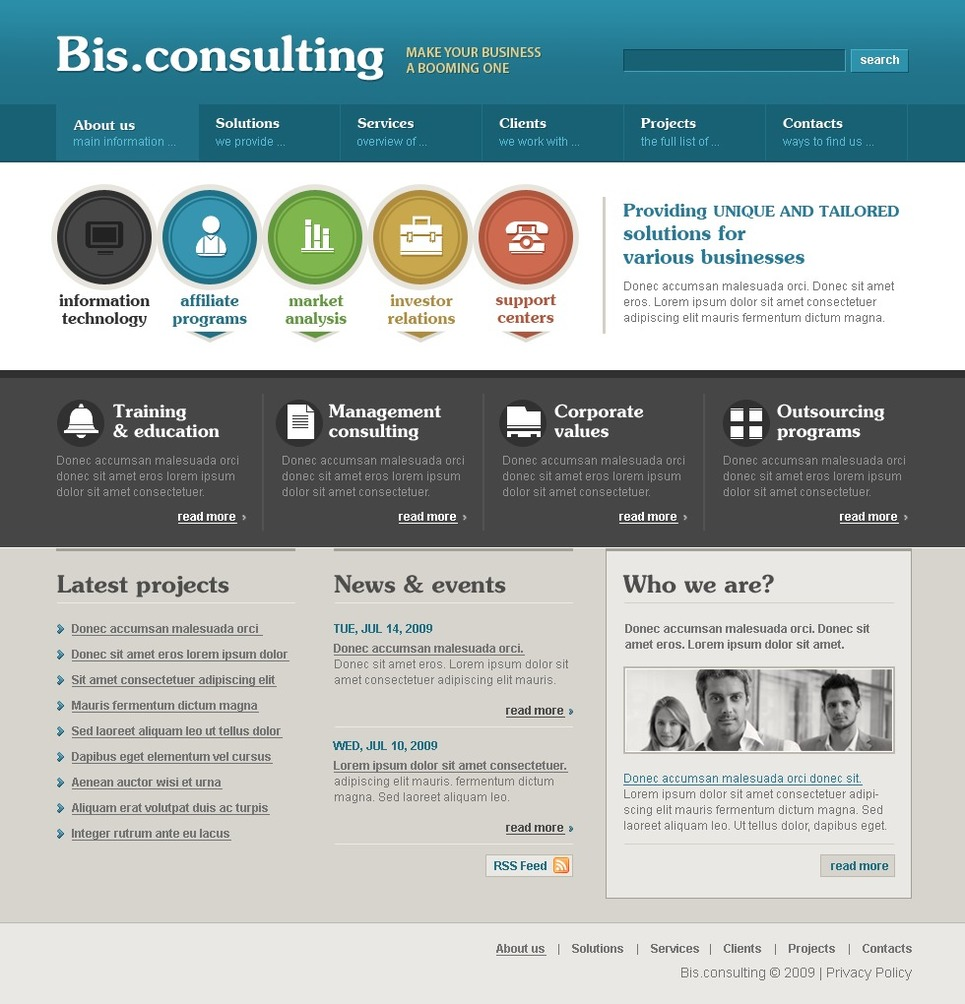 Consulting Website Template New Screenshots BIG