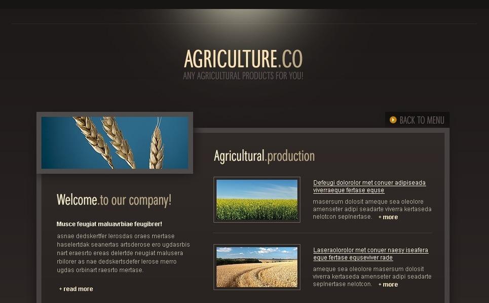 Agriculture Flash Template New Screenshots BIG