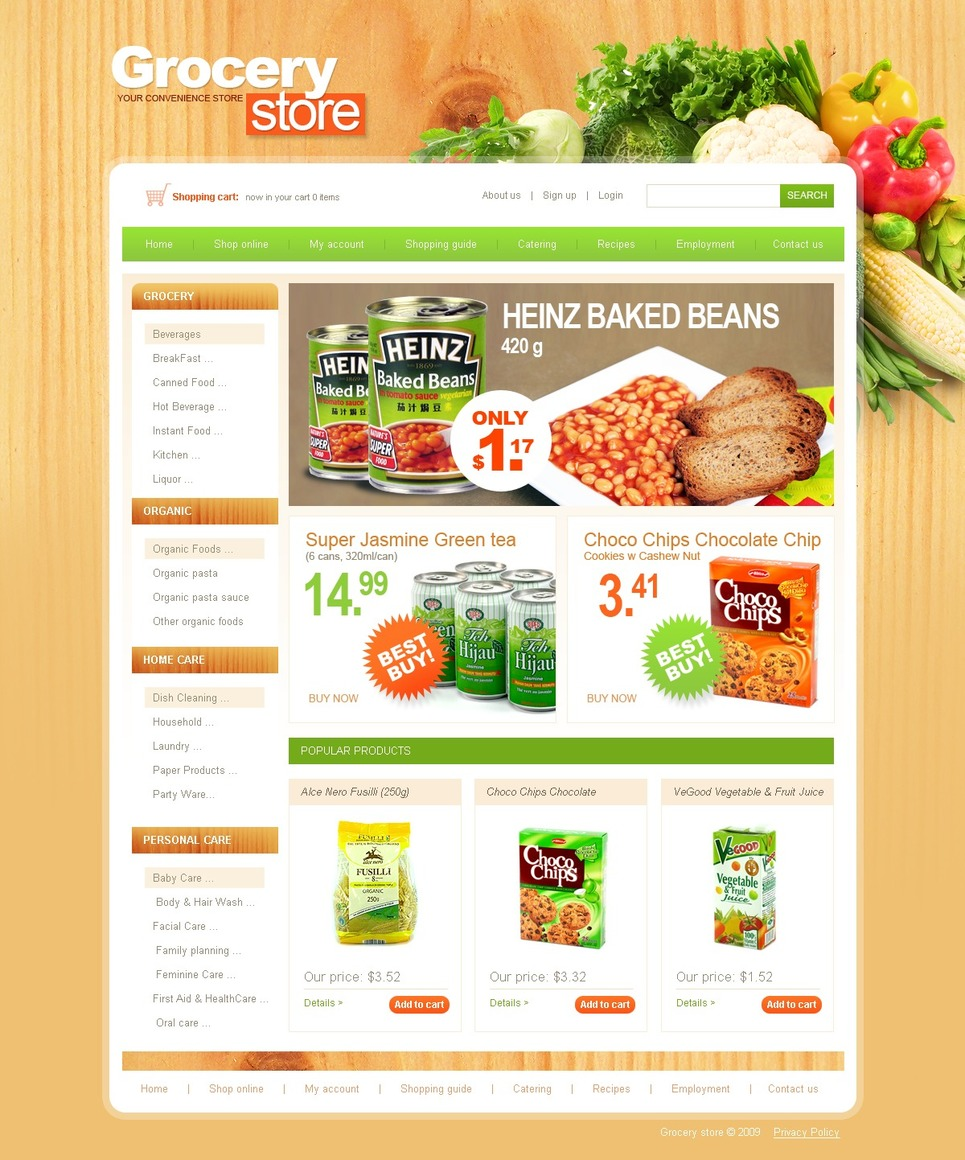 grocery shopping template