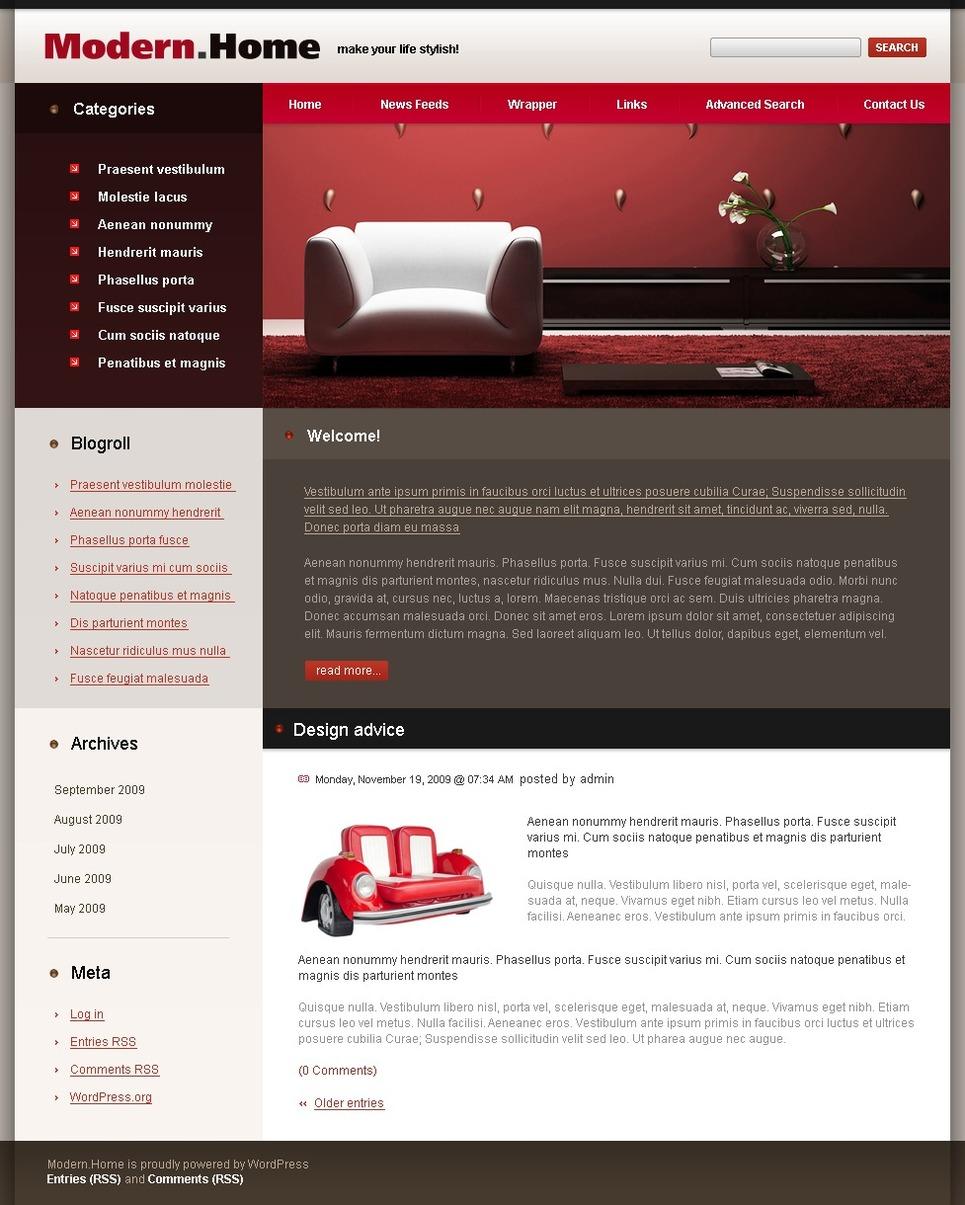 Interior Design Wordpress Theme 25388