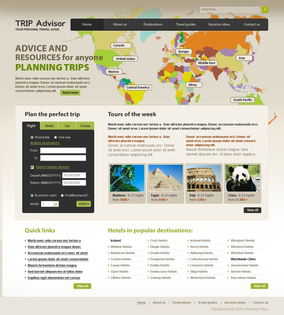 Travel Agency Website Template New Screenshots BIG