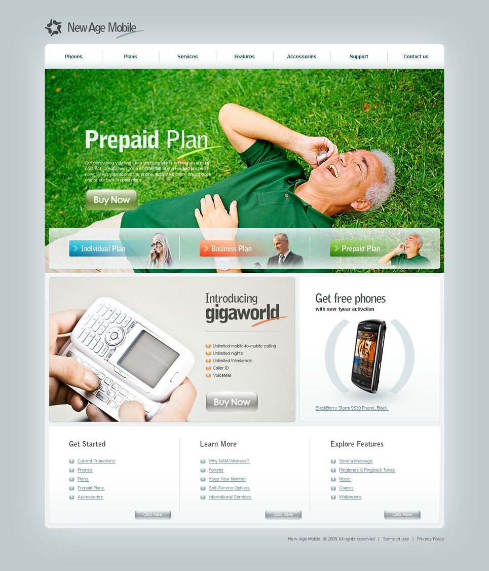 Mobile Company Website Template New Screenshots BIG