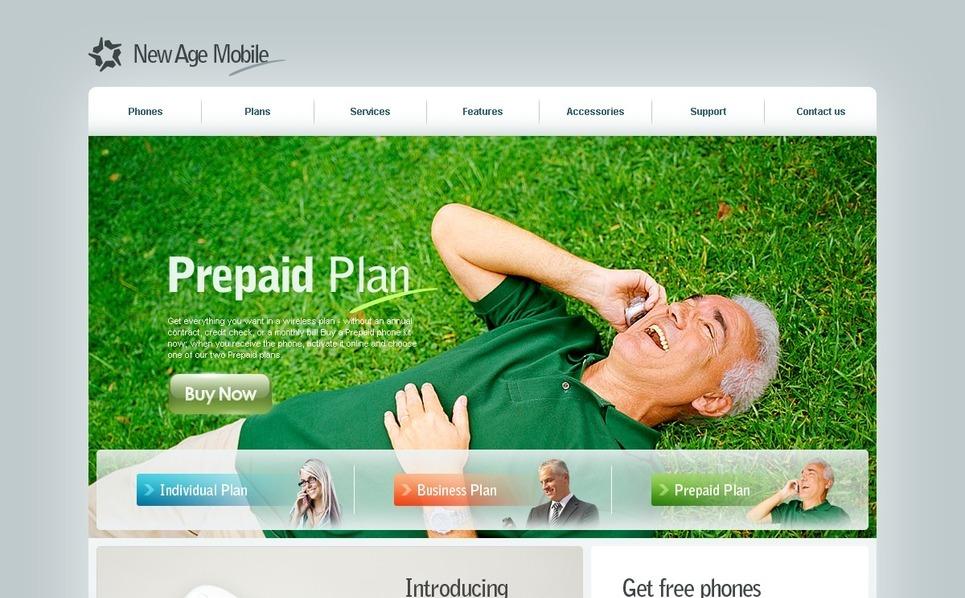 Mobile Company Website Template New Screenshots BIG