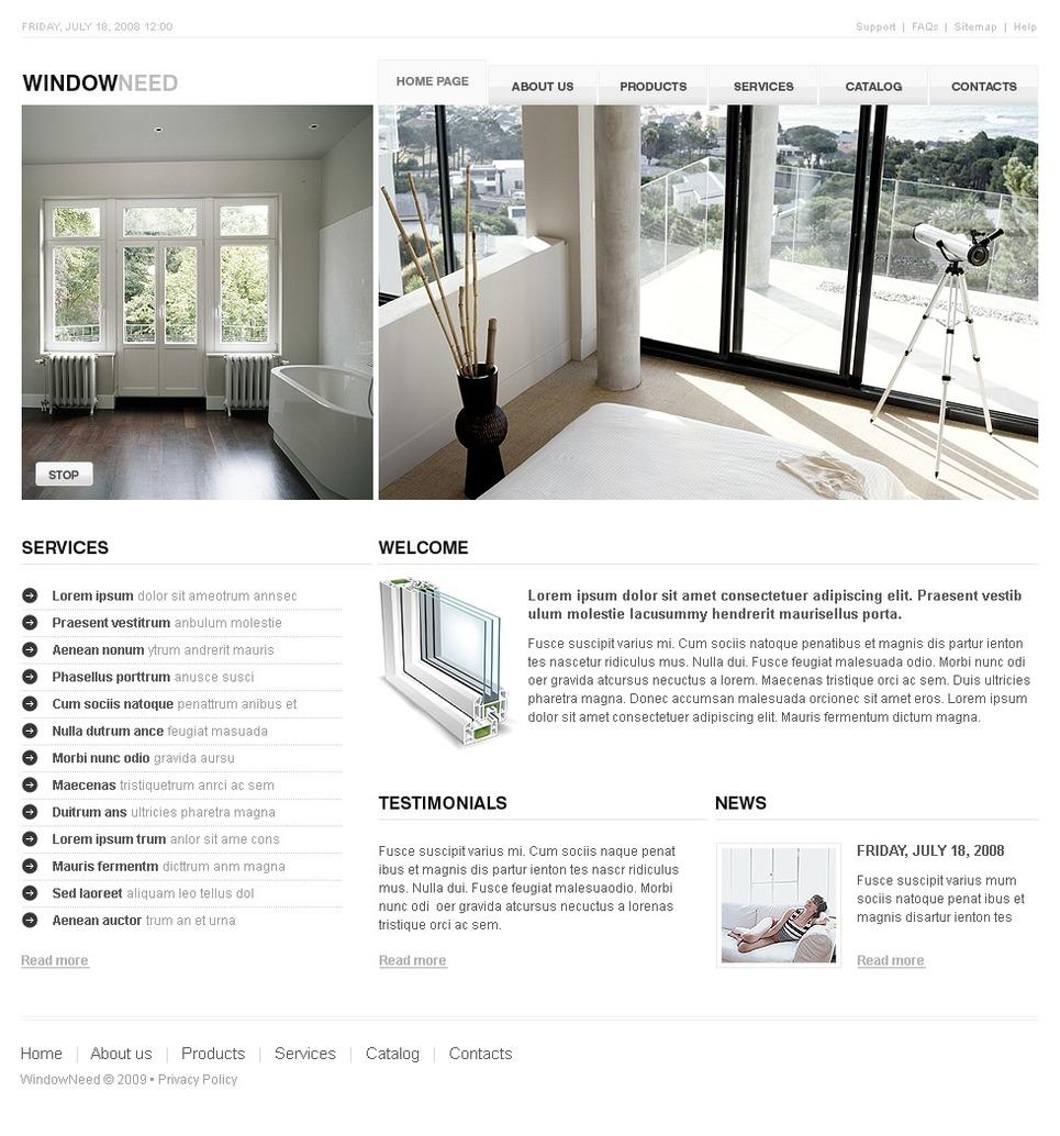 Mod le web 25554 pour site d 39 entreprises de fen tres for Entreprise de fenetre