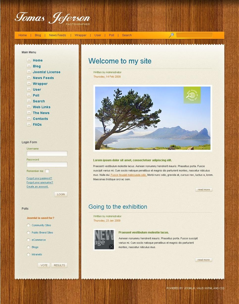 Personal Page Joomla Template New Screenshots BIG