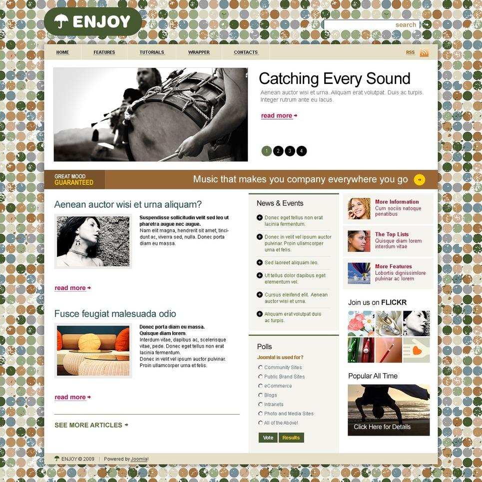 Music Portal Joomla Template New Screenshots BIG