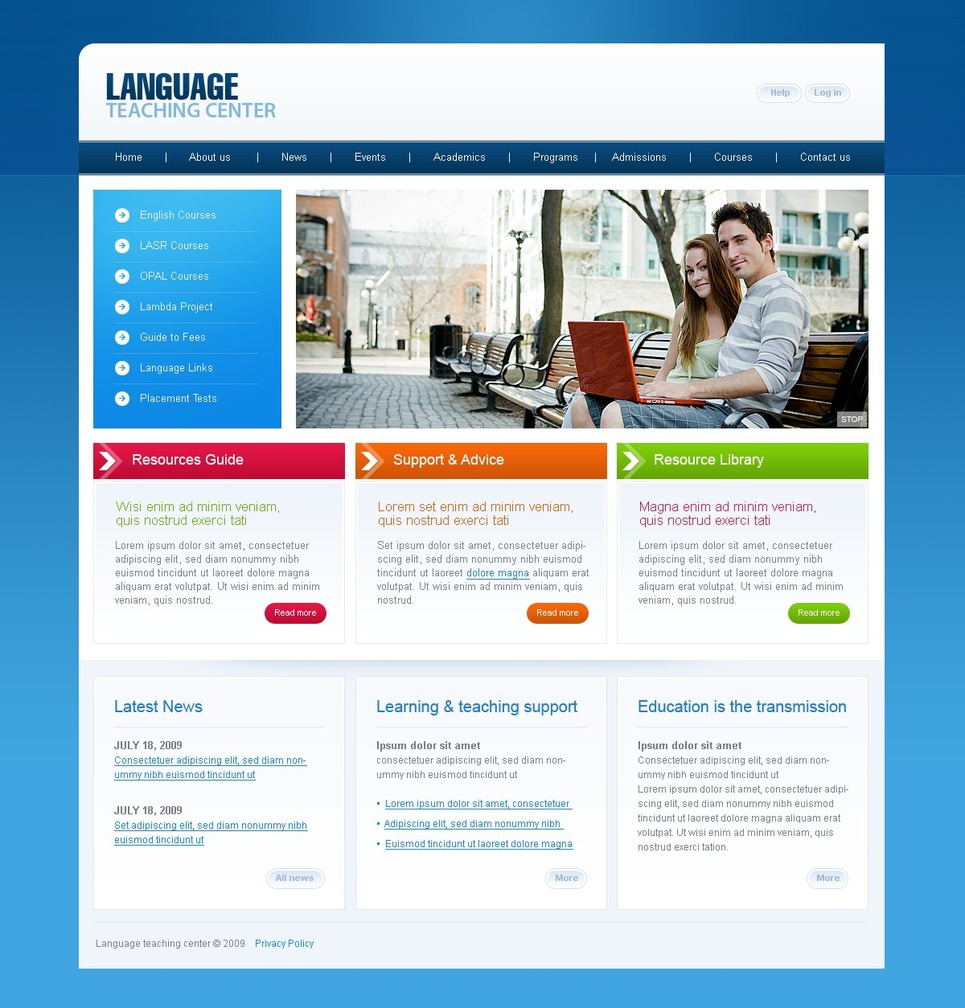 Primary school website template 31565 business proposal cover school website design templates free download 25614 01 home big school 20website20design pronofoot35fo Images