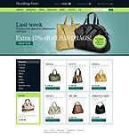 Template #25728  Keywords: handbag store boutique purse bag bags shop fancy bag leather fashion