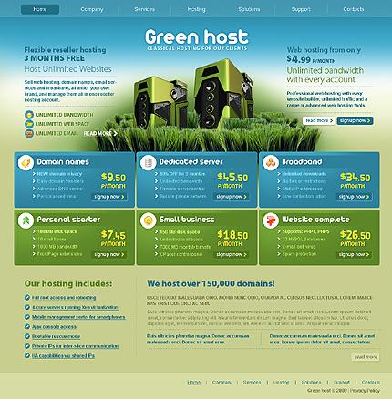 Заказ создания сайта или интернет магазина на тему Хостинг, St. Patrick Green Templates, на основании шаблона №25731.