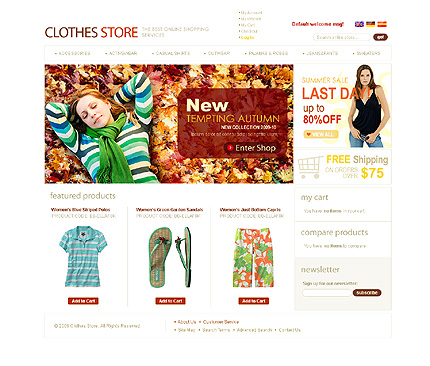 Cloth store - Trendy Magento Fashion Clothing Theme