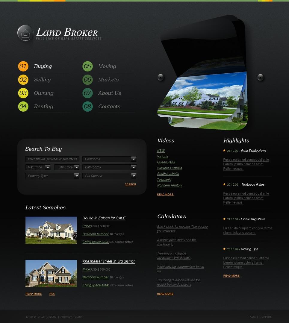 Brokers Website Template