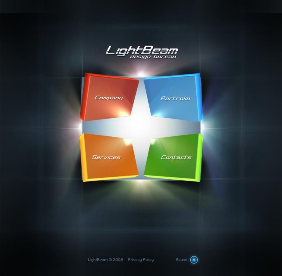design studio flash template 25834