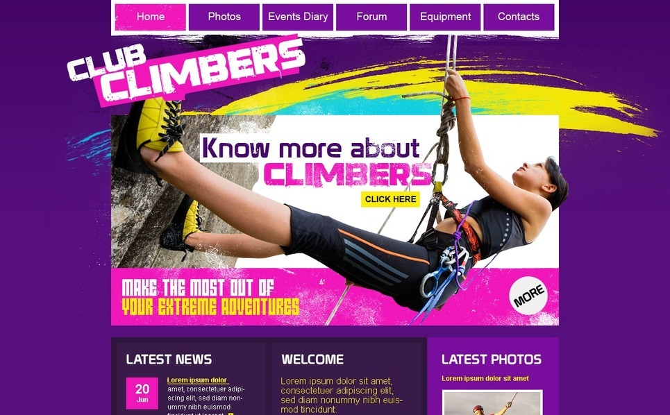 Climbing Website Template New Screenshots BIG