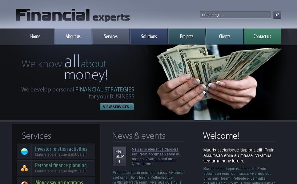 Financial Advisor Website Template New Screenshots BIG