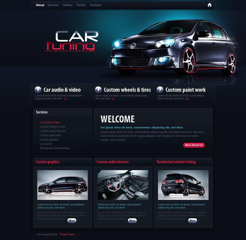car tuning website template 25875