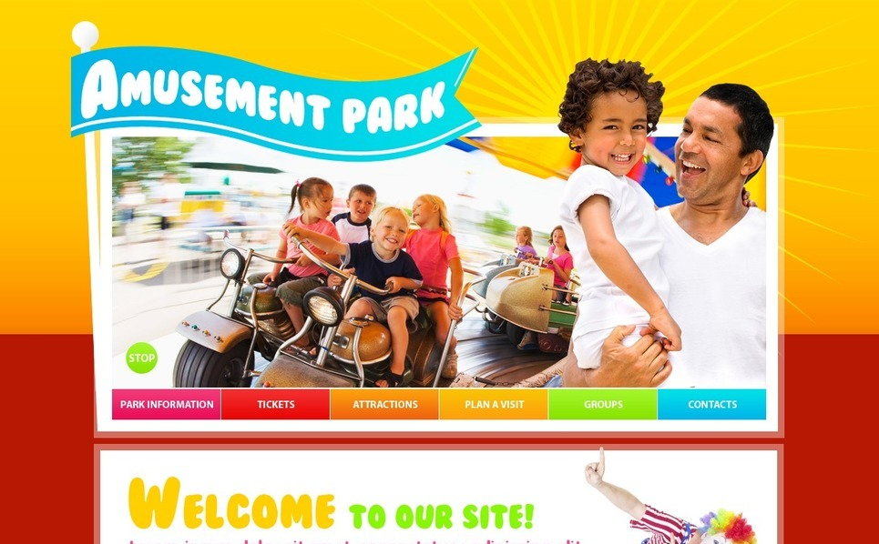 Amusement Park Website Template New Screenshots BIG