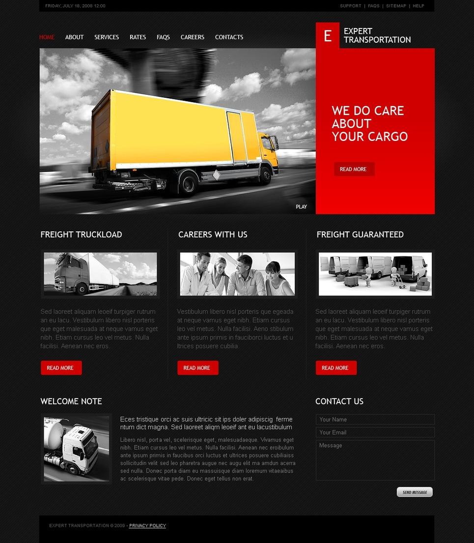 Trucking Website Template New Screenshots BIG