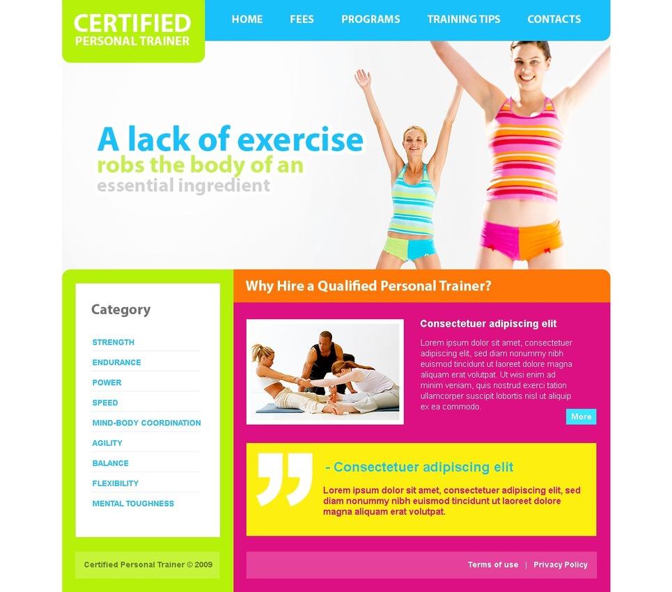 website vorlage 25975 f r fitness