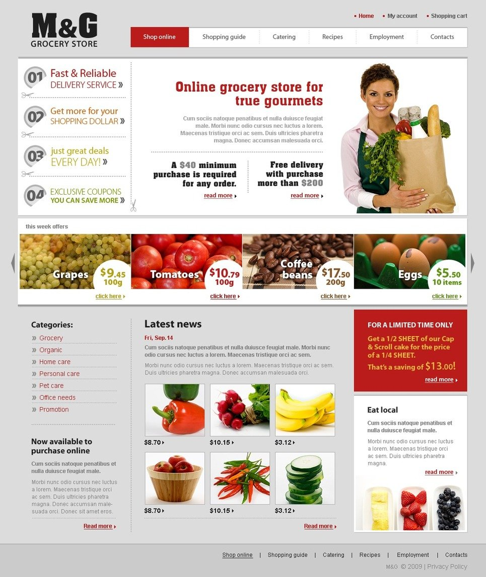 grocery store website template web design templates website templates download grocery store. Black Bedroom Furniture Sets. Home Design Ideas