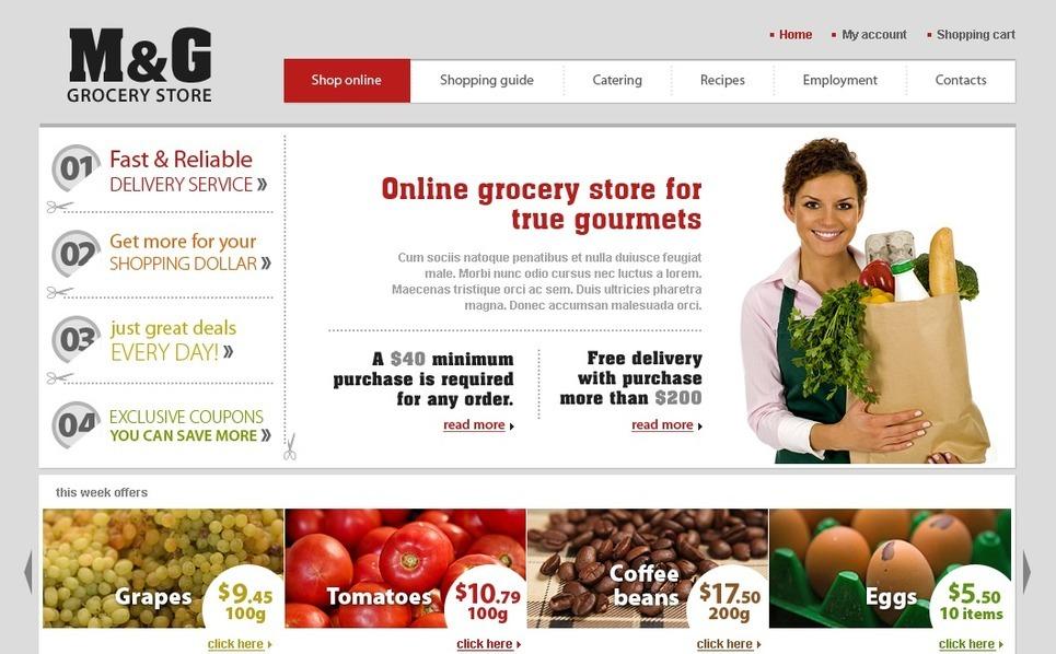 Grocery Store Website Template New Screenshots BIG