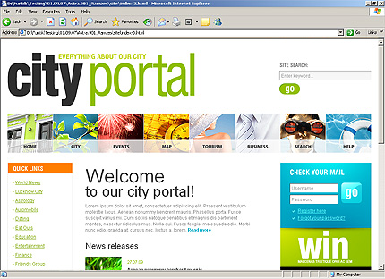 Employee portal template
