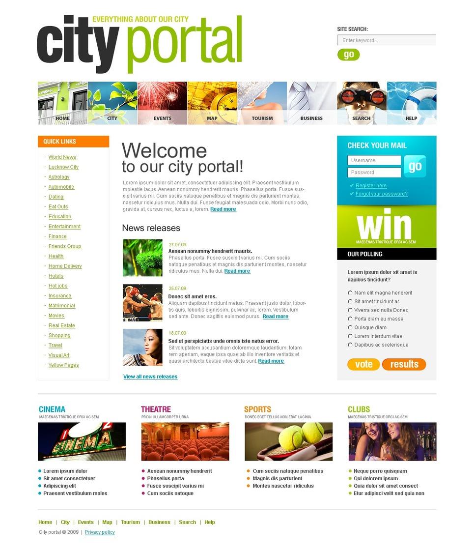 city portal website template web design templates website templates download city portal. Black Bedroom Furniture Sets. Home Design Ideas