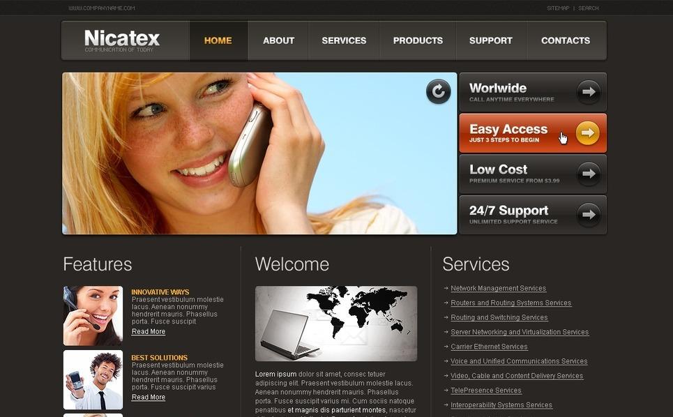 VOIP Website Template New Screenshots BIG
