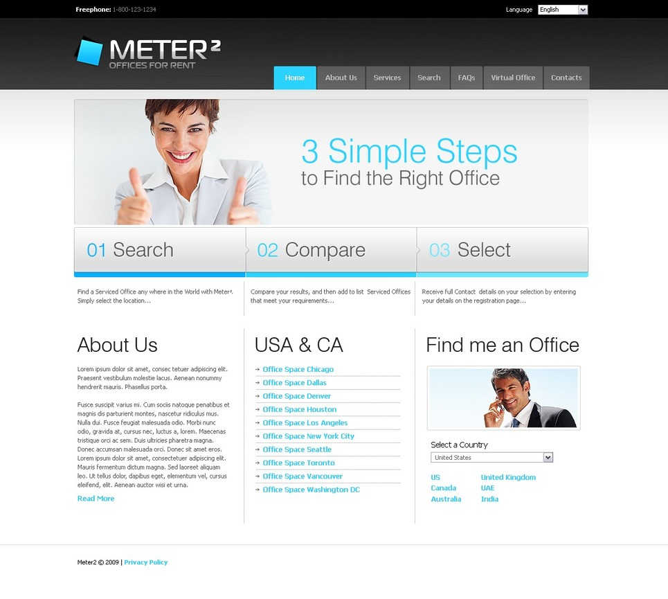 Office Website Template New Screenshots BIG