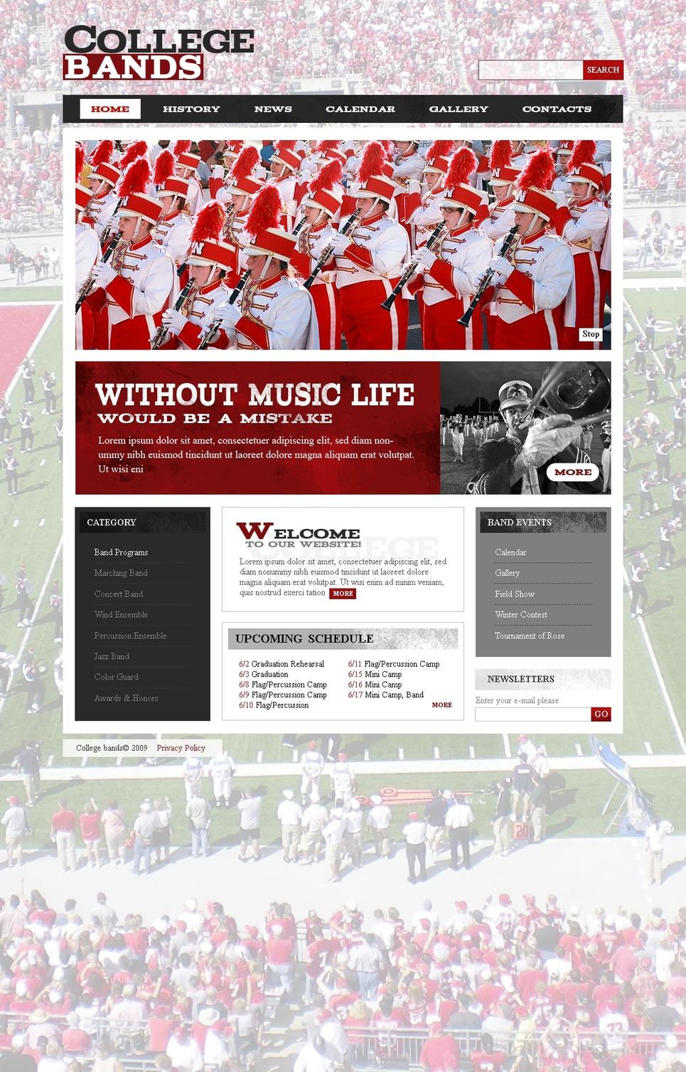 Music Band Website Template New Screenshots BIG