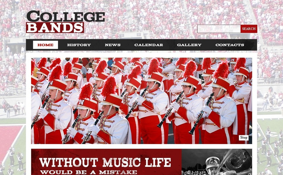 Music Band Website Template New Screenshots BIG