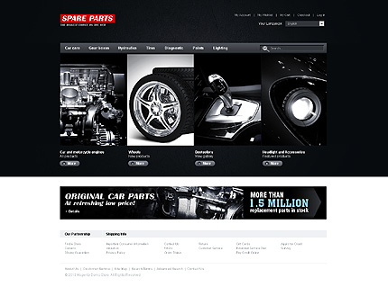 Spare parts - Shining Spare Parts Magento Theme