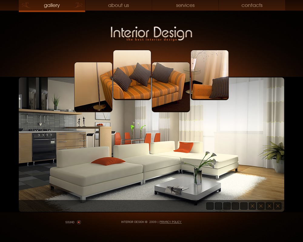 Interior design flash template 26367 for Interior design and furniture websites for your inspiration
