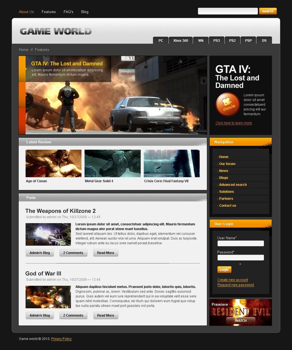 drupal templates kostenlos download