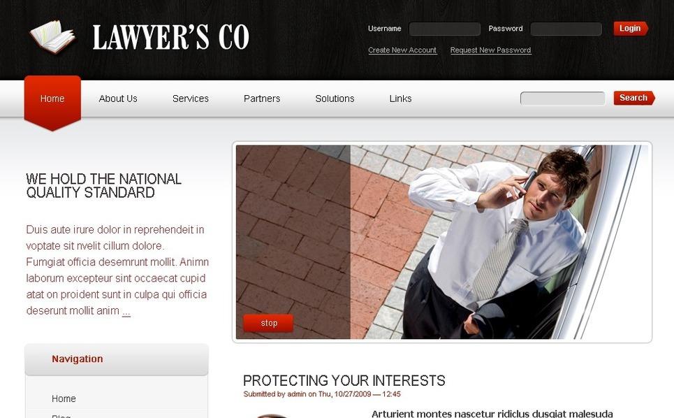 Lawyer Drupal Template New Screenshots BIG