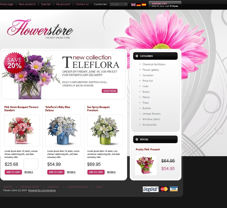 Flower Shop Template Free