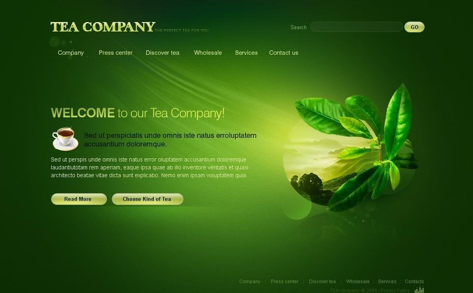 Tea Shop Flash Template New Screenshots BIG