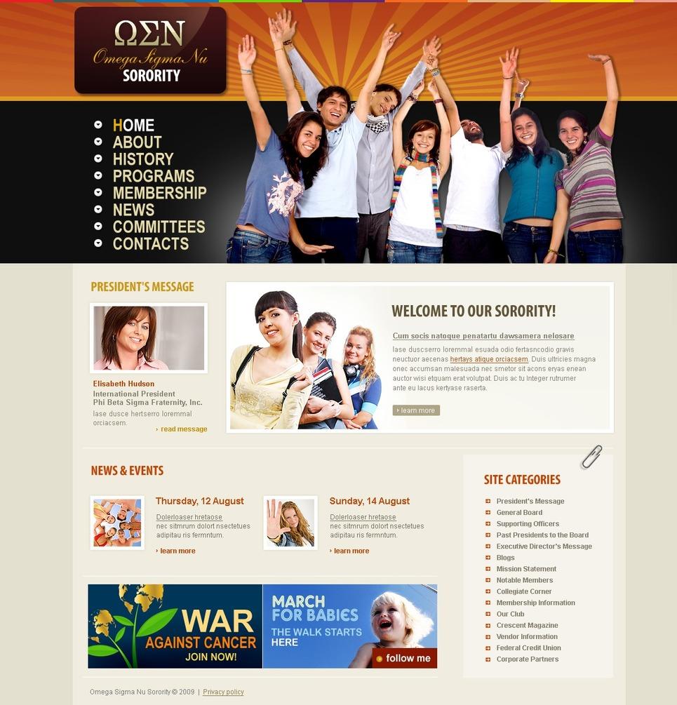 University Website Template New Screenshots BIG
