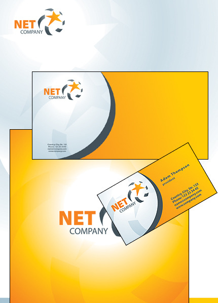 Communications Corporate Identity Template Vector Corporate Identity preview